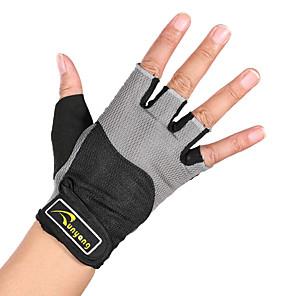 baratos Ferramentas & Acessórios-Luvas de Actividade e Esportes Meio Dedo Confortável Respirável para Ciclismo de Lazer Exercício e Atividade Física Ginásio Exterior