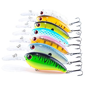 cheap Fishing Lures & Flies-7 pcs Fishing Lures Hard Bait Crank Floating Sinking Bass Trout Pike Sea Fishing Bait Casting Spinning Plastic ABS / Jigging Fishing / Freshwater Fishing / Carp Fishing / Bass Fishing / Lure Fishing