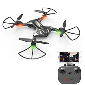 cheap Gaming Headsets-RC Drone SHR / C L600 4CH 6 Axis 2.4G With HD Camera 0.3MP RC Quadcopter One Key To Auto-Return / Auto-Takeoff / Access Real-Time Footage RC Quadcopter / Remote Controller / Transmmitter / USB Cable