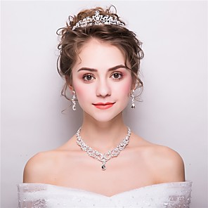 cheap Jewelry Sets-Women's Fashion Earrings Jewelry White For Wedding Evening Party