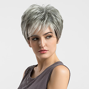 cheap Human Hair Capless Wigs-Human Hair Capless Wigs Human Hair Straight Short Hairstyles 2019 Highlighted / Balayage Hair Capless Wig Women's
