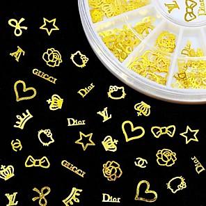 cheap Makeup Brush Sets-new 3d gold metal nail art sticker design tiny slice diy nail accessories