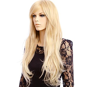 cheap Costume Wigs-Synthetic Wig Straight Straight Wig Blonde Long Blonde Synthetic Hair Women's Blonde