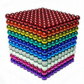 cheap Synthetic Trendy Wigs-216/512/1000 pcs 5mm Magnet Toy Magnetic Balls Building Blocks Super Strong Rare-Earth Magnets Neodymium Magnet Neodymium Magnet Stress and Anxiety Relief Office Desk Toys DIY Adults' Unisex Boys