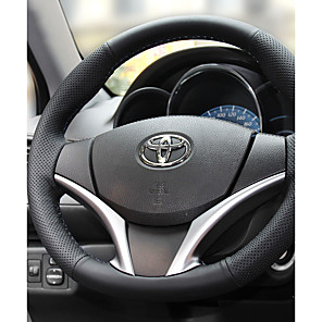 cheap Steering Wheel Covers-Steering Wheel Covers Leather 38cm 15inch Diameter Black / Black / Red For Toyota Ford Nissan Volvo Hyundai Cadillac Mazda Mitsubishi  All years