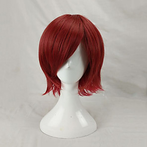 cheap Costume Wigs-Cosplay Costume Wig Synthetic Wig Cosplay Wig Straight Straight Layered Haircut Wig Short Watermelon Red Synthetic Hair Men's Red hairjoy