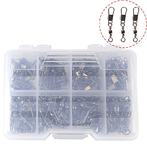 cheap Fishing Tools-140 pcs Fishing Tackle Box Fishing Snaps & Swivels Steel Stainless Easy to Use Jigging Sea Fishing Fly Fishing Bait Casting Fishing Removal Tools Fishing Outdoor Recreation Sporting Goods / Spinning