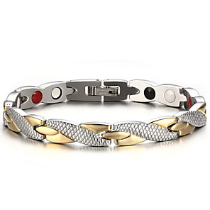 cheap Men's Bracelets-Men's Chain Bracelet Bracelet Bangles Natural Fashion equilibrio Titanium Steel Bracelet Jewelry Silver For Gift Daily