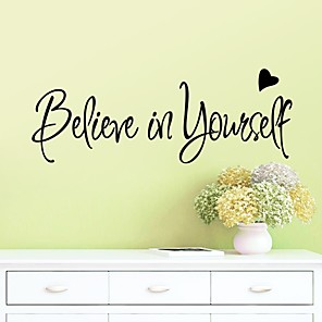 cheap Wall Stickers-Fashion / Shapes / Words & Quotes Wall Stickers Plane Wall Stickers Decorative Wall Stickers, Plastic Home Decoration Wall Decal Wall / Window Decoration 1pc