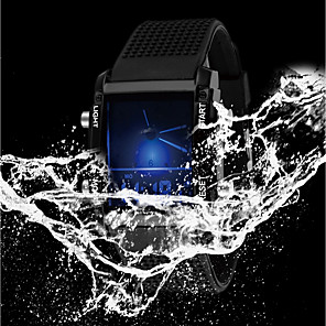 cheap Square & RectangularWatches-Men's Ladies Sport Watch Military Watch Digital Watch Quartz Casual Water Resistant / Waterproof Silicone Rubber Black / White Analog - Digital - White Black / Stainless Steel / Calendar / date / day