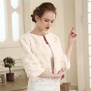 cheap Wedding Slips-Shrugs Faux Fur Wedding / Party / Evening Women's Wrap With Fur
