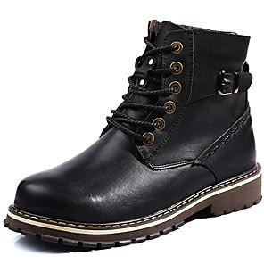 Unisex Zapatos PU Otoño / Invierno Botas de Combate Botas Negro / Morrón Oscuro / Borgoña YurhGY2X3