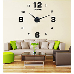 cheap Wall Clocks-Casual / Modern Contemporary / Office / Business Stainless Steel / EVA Round Garden Theme Indoor / Outdoor / Indoor AAA Decoration Wall Clock Digital Brushed Steel No