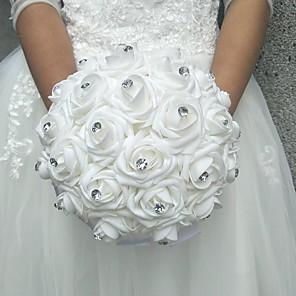 "cheap Wedding Flowers-Wedding Flowers Bouquets Wedding Polyester / Foam 9.84""(Approx.25cm)"