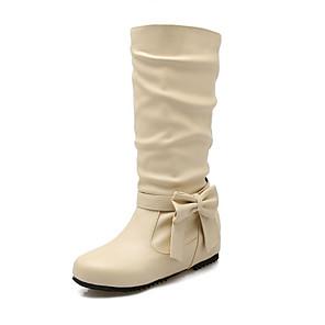 Mujer Zapatos PU Invierno Botas de nieve Botas Tacón Tacón Tacón Cuña Dedo 3963e2