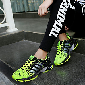 cheap Outdoor IP Network Cameras-Men's Comfort Shoes Tulle Summer / Fall Athletic Shoes Running Shoes Green / Red / Blue / Lace-up