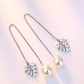 cheap Earrings-Women's Stud Earrings Drop Earrings Hanging Earrings Long Dainty Ladies Simple Style Fashion bridesmaid Sterling Silver Silver Plated Earrings Jewelry Silver For Party Gift