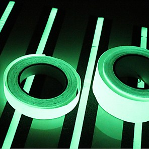 cheap Office Supplies & Decorations-400*2CM  Glow in Dark Luminous Light Tape Green Fluorescence Sticker Night Luminous Tape Strip Decal Decoration for Stair Door Motorcycle Car Luminous