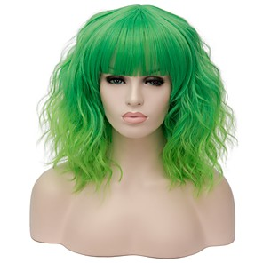 cheap Synthetic Trendy Wigs-Synthetic Wig Water Wave Kardashian Water Wave Wig Blonde Pink Short Light golden Pink / Purple Light Brown Purple / Blue Rose Gold Synthetic Hair Women's Red Blue Blonde