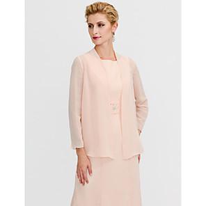 cheap Wedding Wraps-Long Sleeve Coats / Jackets Chiffon Wedding / Party / Evening Women's Wrap With