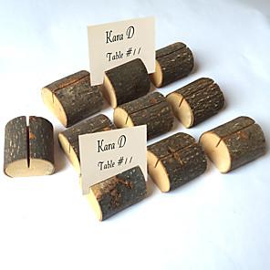 povoljno Raspored sjedenja i držači kartica-drvene ukrase isječci držač kartica za vjenčanja šik& moderan