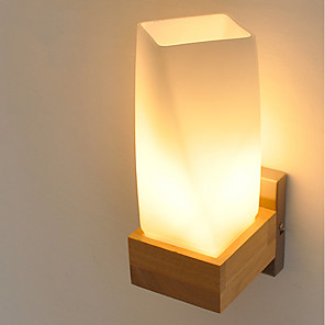 cheap Video Door Phone Systems-Simple / Modern Contemporary / Country Wall Lamps & Sconces Wood / Bamboo Wall Light 220V 5 W / E27