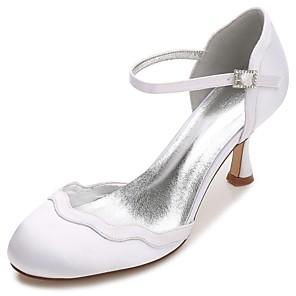Mujer Zapatos Satén Primavera / Verano Zapato transparente / Pump Básico / D'Orsay y Dos Piezas Zapatos de boda Tacón Cono / Tacón Bajo / xBw6o52RU