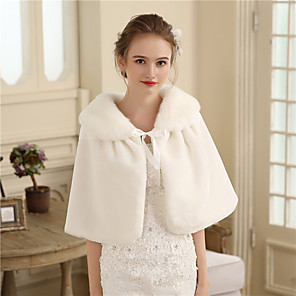 cheap Wedding Slips-Capelets Faux Fur Wedding / Party / Evening Women's Wrap With Fur