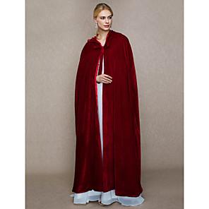cheap Wedding Wraps-Capes Faux Fur Wedding / Party / Evening Women's Wrap With Cap / Lace-up