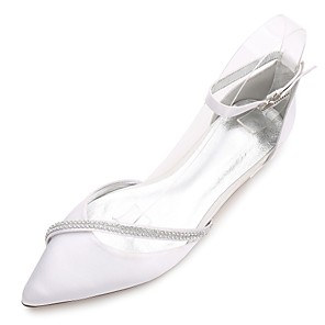 e259d09f9fe Women s Shoes Satin Spring Summer Comfort Ballerina D Orsay   Two-Piece  Ankle Strap