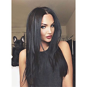 cheap Costume Wigs-Synthetic Wig Straight Straight Wig Long Natural Black Synthetic Hair Women's Black