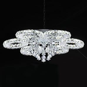 cheap Ceiling Lights-1-Light 80 cm Crystal / LED Flush Mount Lights Metal Chrome Modern Contemporary 110-120V / 220-240V