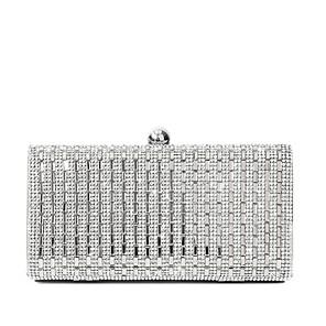 cheap Clutches & Evening Bags-Women's Crystals PU Evening Bag Wedding Bags Black / Gold / Silver