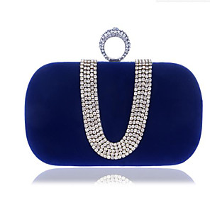 cheap Clutches & Evening Bags-Women's Buttons Polyester Clutch Blue / Black / Purple / Fall & Winter