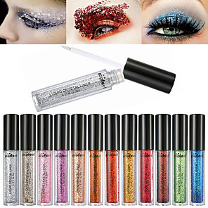 cheap Eyeshadows-12 Colors Eyeshadow Palette Liquid Shimmer Matte Shimmer Ammonia Free Formaldehyde Free Glitter Shine smoky Multi-function Daily Makeup Halloween Makeup Party Makeup Cosmetic Gift