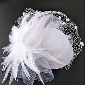 cheap Fascinators-Net Fascinators / Hats / Headwear with Floral 1pc Wedding / Special Occasion / Horse Race Headpiece