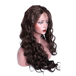 cheap Synthetic Lace Wigs-Synthetic Lace Front Wig Body Wave Body Wave Lace Front Wig Long Dark Brown Synthetic Hair Women's Brown EEWigs