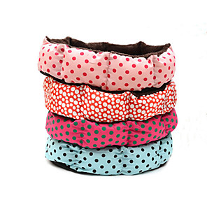 cheap Costume Wigs-Dog Bed Mats & Pads Cotton Polka Dot Red Pink Blue