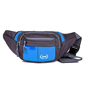 cheap Backpacks & Bags-Hiking Waist Bag Multifunctional Waterproof Portable Lightweight Outdoor Running Camping / Hiking Hunting Nylon Black Navy Purple / Wear Resistance