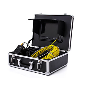 """cheap CCTV Cameras-Endoscope Pipeline Inspection System 7"""" 20M/30M Drain Sewer Waterproof Camera with 6 LED Lights"""