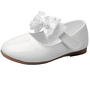 cheap Kids' Flats-Girls' Comfort / Flower Girl Shoes / Children's Day Leatherette Flats Little Kids(4-7ys) Bowknot / Magic Tape White / Black / Red Spring / Fall / Wedding / Wedding / TPR (Thermoplastic Rubber)