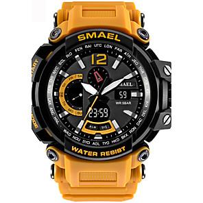 cheap Sport Watches-Men's Sport Watch Digital Watch Digital Quilted PU Leather Black / Blue / Red 50 m Water Resistant / Waterproof Alarm Calendar / date / day Analog - Digital Black / Gray Black / Silver Black / Rose