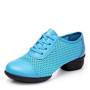 cheap Dance Sneakers-Women's Dance Shoes Mesh Dance Sneakers Low Heel Fuchsia / Red / Blue / EU37