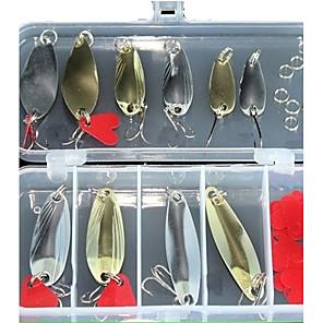 cheap Fishing Lures & Flies-31 pcs Spoons Metal Bait Floating Sinking Bass Trout Pike Sea Fishing Bait Casting Ice Fishing Alloy Metal / Lure Fishing / General Fishing / Trolling & Boat Fishing