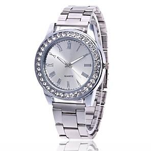 cheap Quartz Watches-Men's Women's Wrist Watch Diamond Watch Quartz Metal Silver / Gold / Rose Gold Casual Watch Analog Charm Casual - Rose Gold Gold Silver