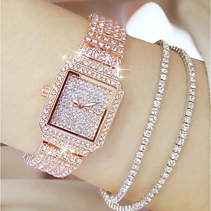 cheap Bracelet Watches-Women's Luxury Watches Diamond Watch Gold Watch Quartz Ladies Casual Watch Stainless Steel Silver / Gold / Rose Gold Analog - Rose Gold Gold Silver / Japanese / Japanese