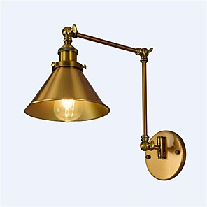 cheap Indoor Wall Lights-Simple / Vintage / Retro Swing Arm Lights Metal Wall Light 110-120V / 220-240V / E26 / E27