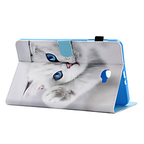 cheap Other Phone Case-Case For Samsung Galaxy / Tab A 8.0 / Tab A 9.7 Tab E 9.6 / Tab E 8.0 / Tab A 10.1 (2016) Card Holder / with Stand / Flip Full Body Cases Cat Hard PU Leather
