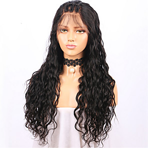 cheap Human Hair Wigs-Human Hair Lace Front Wig Layered Haircut style Brazilian Hair Loose Wave Wig 130% Density with Baby Hair Natural Hairline For Black Women 100% Virgin Unprocessed Women's Short Medium Length Long