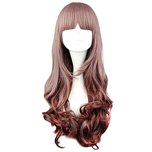 cheap Synthetic Trendy Wigs-Cosplay Wigs Women's 24 inch Heat Resistant Fiber Brown Brown Anime